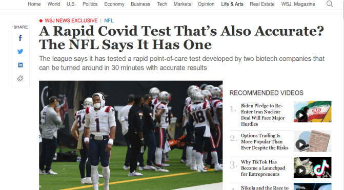 Did the NFL Just Create the Best COVID Test in the World?