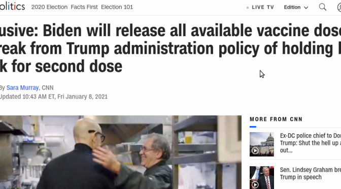 New Administration Will Release All Available COVID Vaccine Doses Immediately